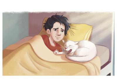 cat-boy-bed-happy-by-evamorales-unavailable-jpg