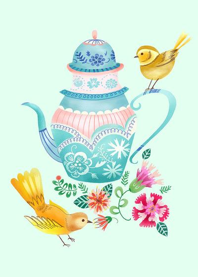 pimlada-phuapradit-teapot-floral-with-yellow-birds-jpg