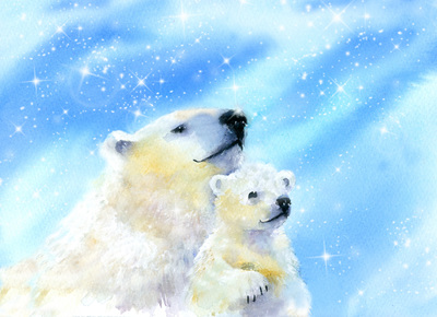 polar-bear-and-cub-stars-jpg