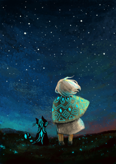 girl-cat-star-sky-night-jpg