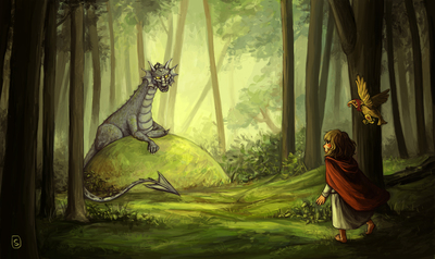 girl-dragon-forest-wood-jpg