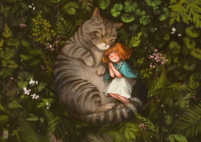 girl-forest-cat-sleep-jpg
