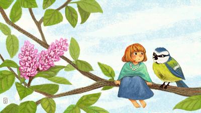 girl-tree-bird-bluetit-jpg