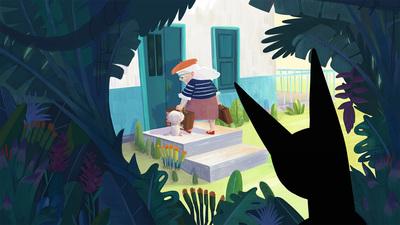 tropicaljungle-monster-oldlady-cat-house-nature-jpg