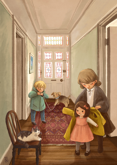 home-mother-children-dog-cat-door-jpg-1