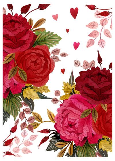 happy-valentines-floral-folk-champagne-flutes-roses-jpg
