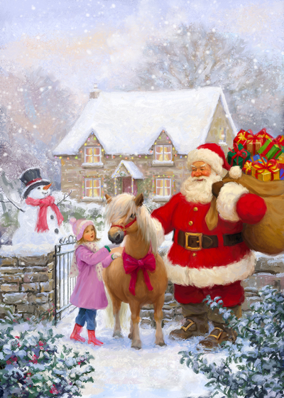 85063-santa-little-girl-and-pony-jpg