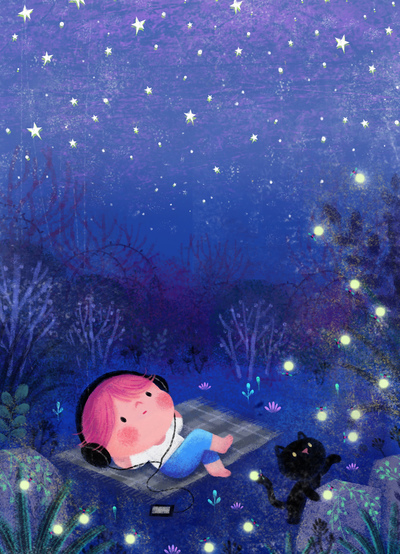 stars-boy-cat-forest-firefly-jpg