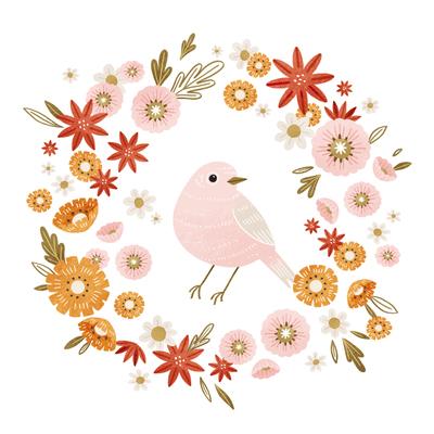 bird-with-flower-wreath