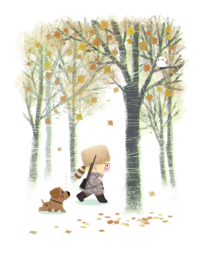autumn-girl-dog-hunting-jpg