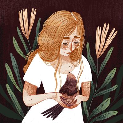 bird-woman-bird-flowers-ginger-hair-jpg
