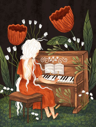 music-nature-woman-music-pano-red-white-playing-jpg