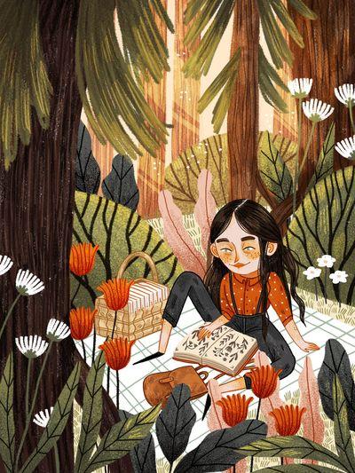 picnic-nature-trip-trees-scenary-flowers-girl-reading-adventure-jpg