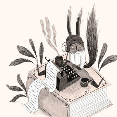 the-writer-animal-squirrel-typewritter-books-small-writing-jpg