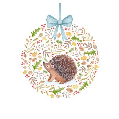 victoria-nelson-christmas-foliage-ball-baby-animals-hedgehog-jpg