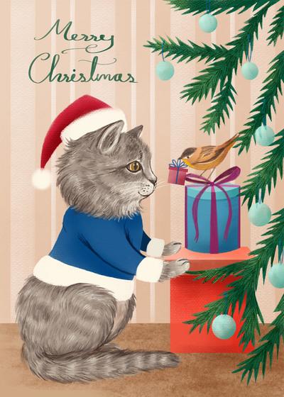 christmas-cat-and-bird-pim-jpg