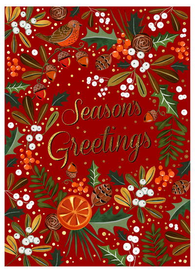 christmas-foliage-orange-bird-holly-mistletoe-pinecones-jpg