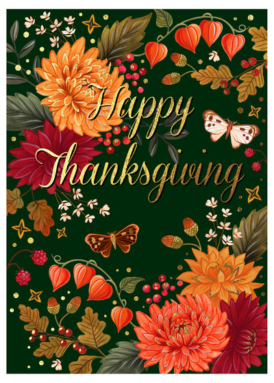 thanksgiving-foliage-border-marigold-berry-acorn-oak-jpg