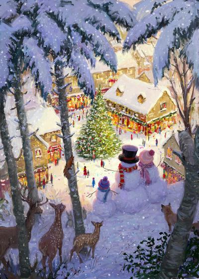 85085-snowpeople-looking-down-on-village-jpg