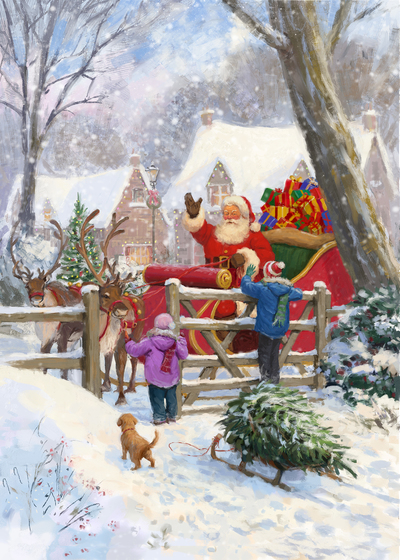 85086-santa-and-children-by-gate-jpg