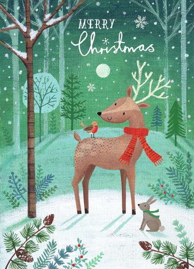 jo-cave-green-woodland-glam-christmas-deer-and-robin-jpg