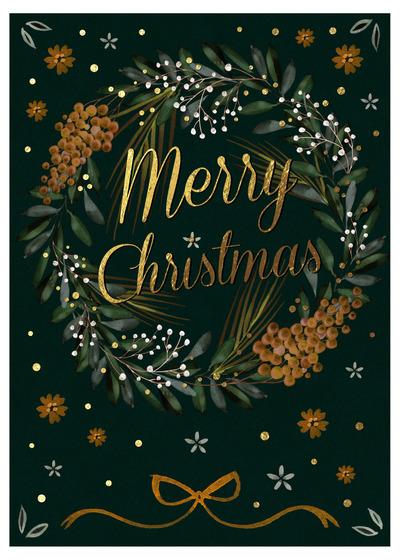victoria-nelson-christmas-wreath-glam-green-gold-foliage-holly-fern-pine-jpg