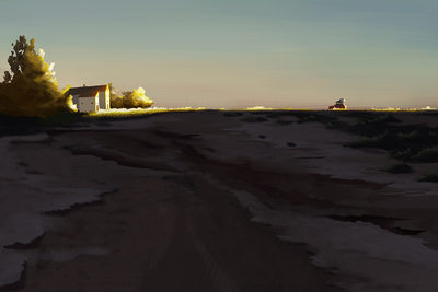 landscape-plain-house-car-sunset-jpg