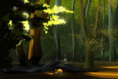 rabbits-forest-wood-trees-jpg