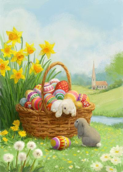 85090-rabbits-easter-egg-and-church-jpg