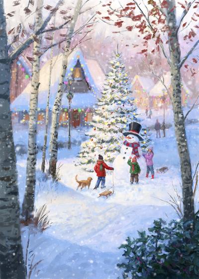 85091-snowman-and-children-jpg