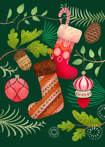 pimlada-phuapradit-christmas-pine-cones-and-stockings-jpg