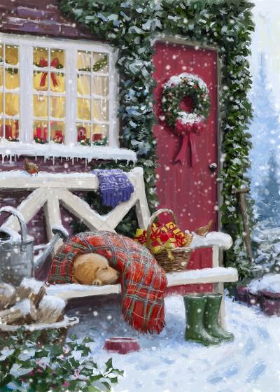 85101-puppy-asleep-under-blanket-in-the-snow-jpg