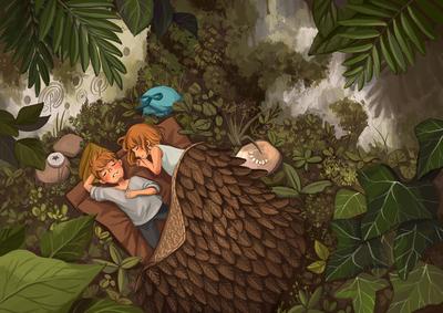 brother-sister-sleep-foliage-jpg