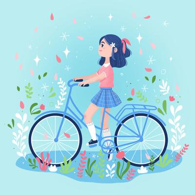 girl-bike-plant-child-japan-jpg