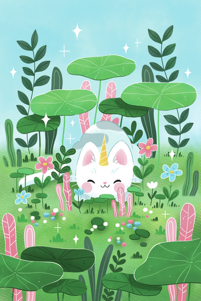 cat-cute-landscape-nature-season-spring-plant-flowers-jpg