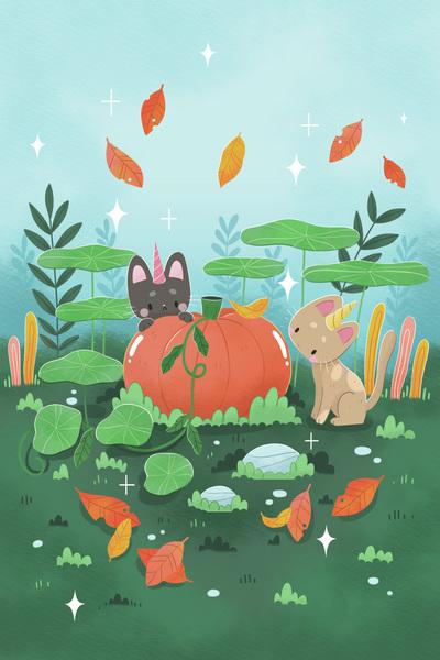 cat-cute-landscape-nature-season-pumpkin-octobre-autumn-leaves-plant-jpg