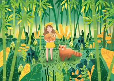 girl-forest-plant-bamboo-firefox-japan-jpg