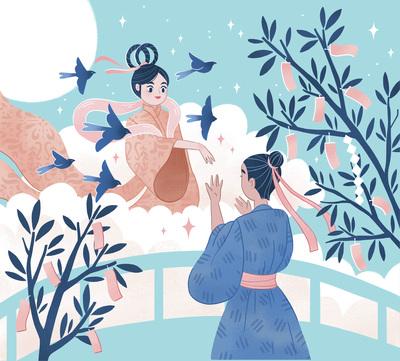 japan-legend-orihime-princess-prince-tale-birds-moon-sky-love-jpg