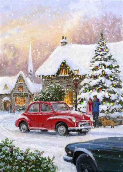 85109-english-car-and-village-jpg