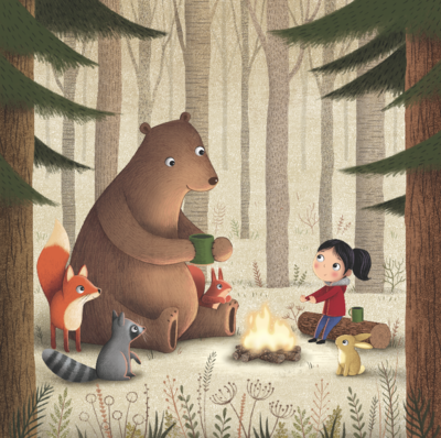 bear-and-friends-around-the-campfire-png