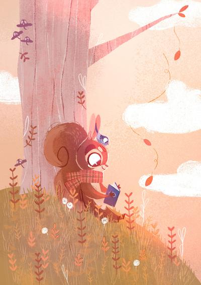 squirrel-bird-fall-tree-leaves-book-jpg