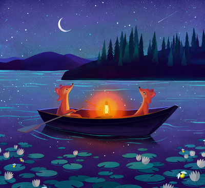 animal-lake-night-stars-png