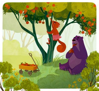 animals-apples-nature-tree-jpg