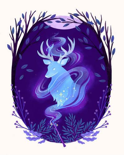 patronus-wand-nature-flowers-night-magic-stag-animal-jpg