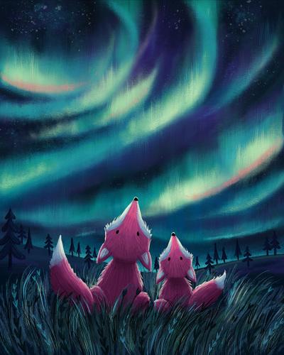 foxes-northern-lights-jpg