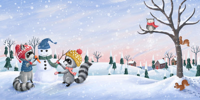 raccoons-building-a-snowman-painting-jpg