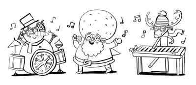 santa-band