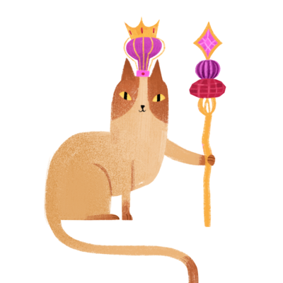 king-cat-png