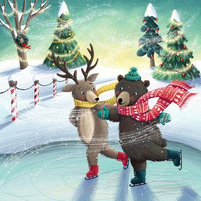 bear-and-deer-ice-skating-jpg