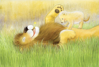 daddy-lion-and-cub-playing-soft-cute-watercolour-jpg